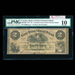The Bank of Prince Edward Island $2 1877  PMG VG-10