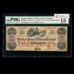 The Bank of Prince Edward Island  1856 2 pounds denomination PMG F-15
