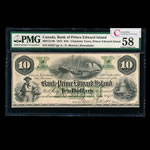 The Bank of Prince Edward Island $10 1872 Remainder PMG AU-58
