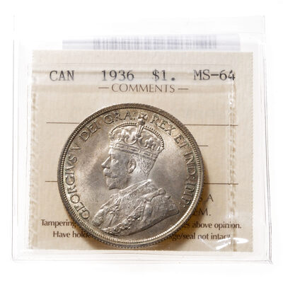 1 Dollar 1936  ICCS MS-64