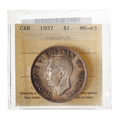 1 Dollar 1937   ICCS MS-63