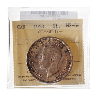 1 Dollar 1939  ICCS MS-64