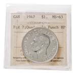 1 Dollar 1947 Ptd 7 4HP ICCS MS-63