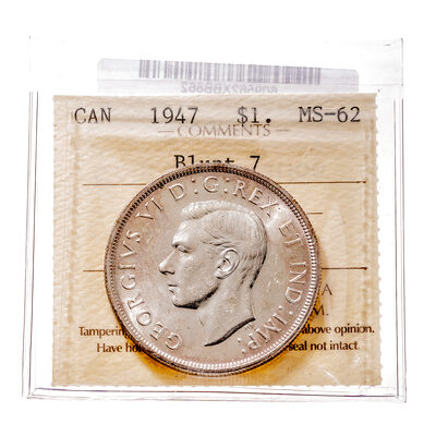 1 Dollar 1947 Blt 7 ICCS MS-62