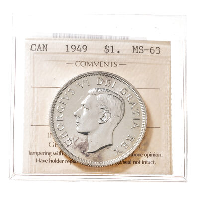 1 Dollar 1949  ICCS MS-63