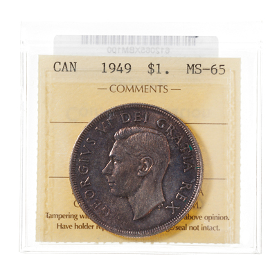 1 Dollar 1949  ICCS MS-65
