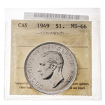 1 Dollar 1949  ICCS MS-66