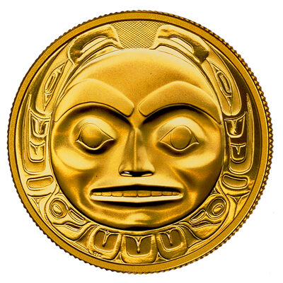 $200 1997 Gold Coin - Haida 'Raven Bringing Light to the World'