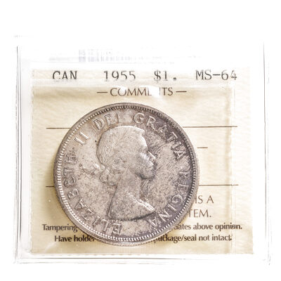 1 Dollar 1955 FWL ICCS MS-64