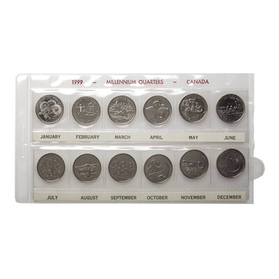 25c 1999 - Set of 12 - Millennium Designs Collection
