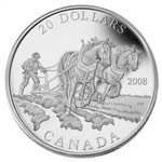$20 2008 Fine Silver Coin - Agriculture Trade