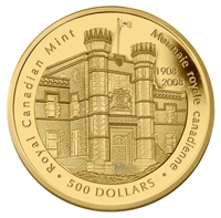 2008 $500 5oz Pure Gold Coin - 100th Anniversary of the Royal Canadian Mint