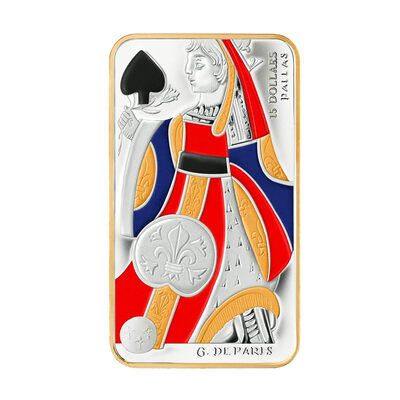$15 2008 Playing Card Money Series - Queen of Spades