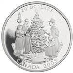 $20 2008 Fine Silver Coin - Holiday Carols