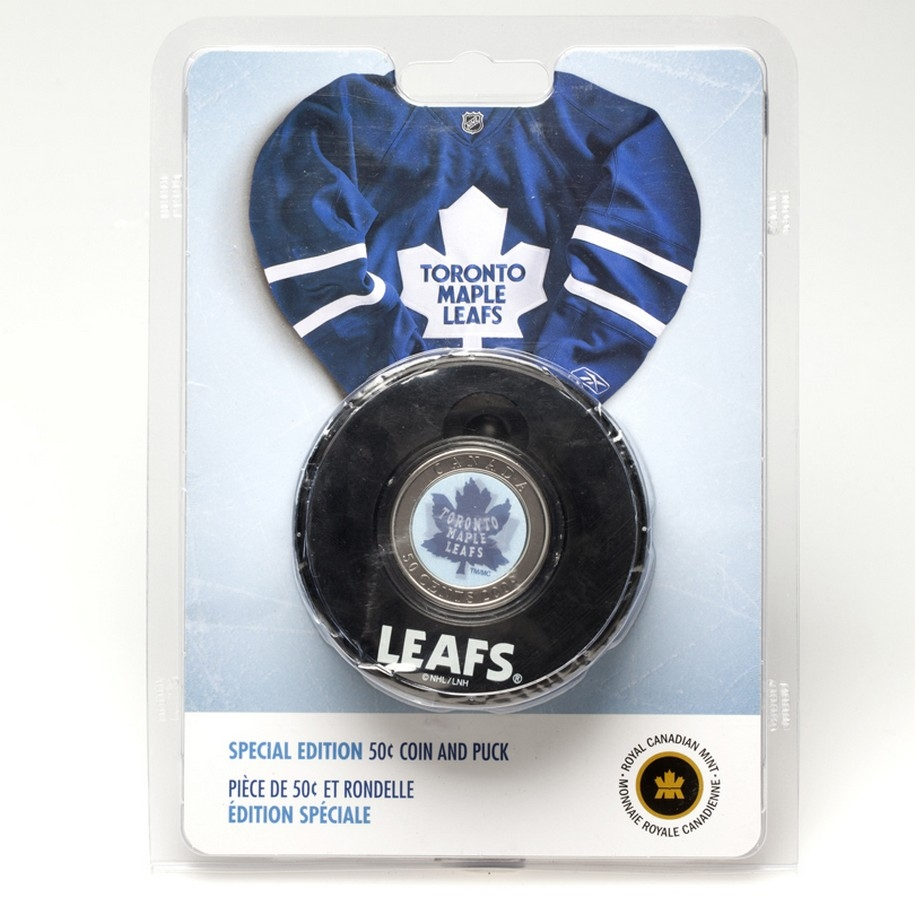 the latest 64e33 4603a 10 UNITS - 2009 50c Toronto Maple Leafs - Coin in Puck
