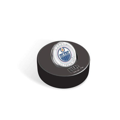 50c 2008/2009 Season Edmonton Oilers Hockey Coin Puck