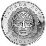 2009 $20 Summer Moon Mask - Fine Silver Coin