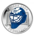 $20 2008/2009 NHL Team Goalie Mask Coins - Toronto Maple Leafs