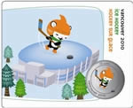 50c 2010 Vancouver Mascots Collector Cards - Sport Poses - Miga Ice Hockey