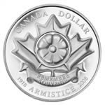"$1 2008 Silver Proof - ""The Poppy"" Armistice"