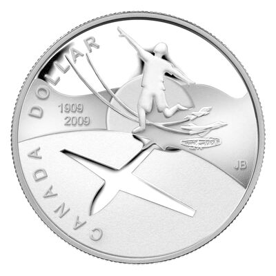 $1 2009 Proof Silver Dollar - 100th Anniversary of Flight in Canada