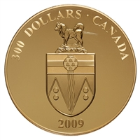 2009 $300 Yukon: Provincial Coat of Arms