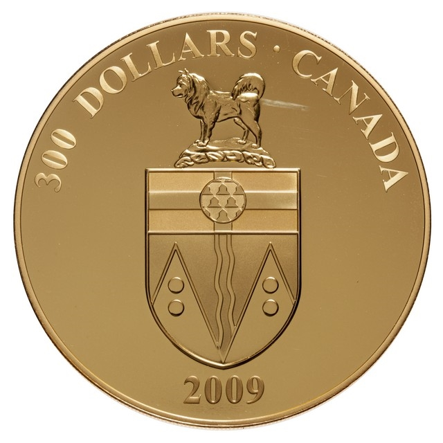 2009 $300 Provincial Coat of Arms: Yukon - 14-kt  Gold Coin