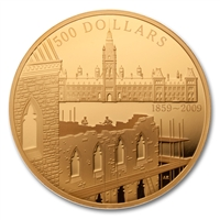 2009 $500 5 oz Pure Gold Coin - 150th Anniversary of the Start of the Construction of the Parliament Buildings