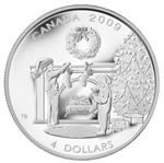 $4 2009 Fine Silver Coin - Hanging the Stockings