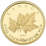 50c 2009 1/25 oz Gold Coin - Red Maple