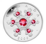 $20 2009 Silver Coin - Crystal Snowflake (Pink)