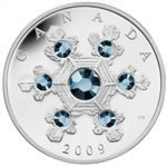 $20 2009 Silver Coin - Crystal Snowflake (Blue)