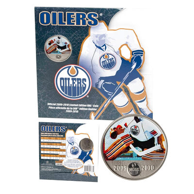 50c 2010 Edmonton Oilers Official 2009-2010 Limited Edition NHL Coin