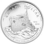 $1 2010 Proof Silver Dollar - 100th Anniversary of the Canadian Navy
