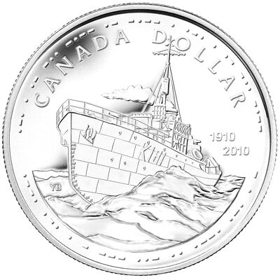 $1 2010 BU Silver Dollar - 100th Anniversary of the Canadian Navy