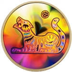 $150 2010 18-Karat Hologram Coin - Year of the Tiger