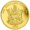 2010 $300 Provincial Coat of Arms: British Columbia - 14-kt. Gold Coin