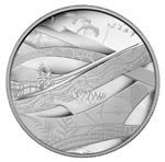 $50 2010 5 oz Silver Coin - Olympic Winter Games - Look of the Games