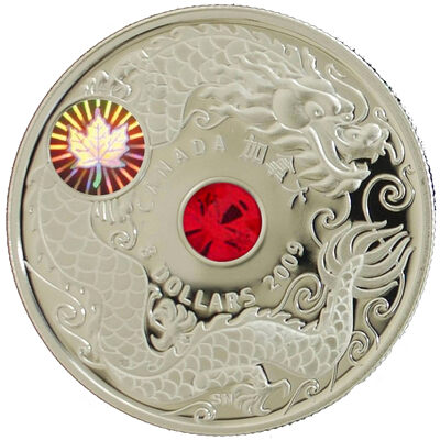 $8 2009 Sterling Silver Coin - Maple of Wisdom