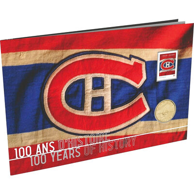 $1 2009 Montreal Canadiens 100th Anniversary Coin & Stamp Set