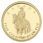 50c 2010 1/25 oz Gold Coin - Royal Canadian Mounted Police