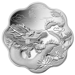 $15 2012 Silver - Lunar Lotus - Year of Dragon