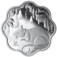 2020 $15 Lunar Lotus Year of the Rat - Pure Silver Coin