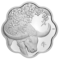 2021 $15 Lunar Lotus: Year of the Ox - Pure Silver Coin