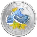 25c 2010 Colourised Coin - Blue Jay