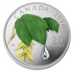 2010 $20 Maple Leaf Crystal Raindrop - Pure Silver Coin