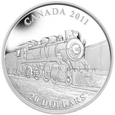 $20 2011 Fine Silver Coin - Great Canadian Locomotives Series: D-10