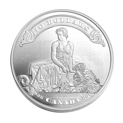$10 2010 Fine Silver Coin - 75th Anniversary of the First Bank Notes Issued By the Bank of Canada