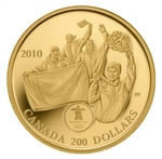 $200 2010 Gold Coin - Vancouver 2010 Olympic Winter Games - First Canadian Olympic Gold Medal on Home Soil