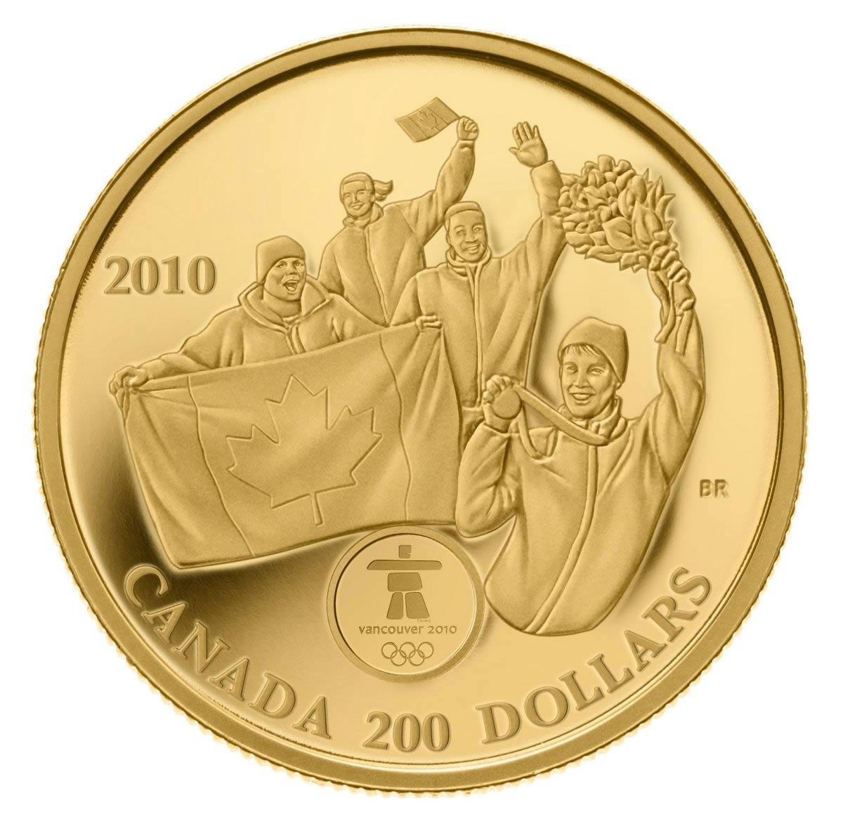 200 2010 Gold Coin Vancouver 2010 Olympic Winter Games